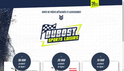 Site internet de Dubost Sports Loisirs