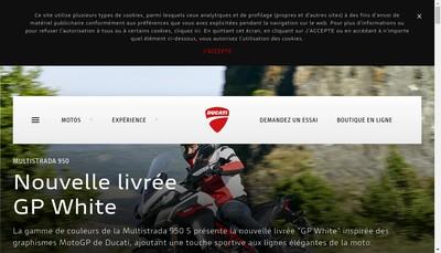 Site internet de Ducati