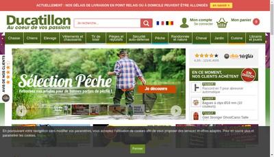 Site internet de Ducatillon Holding
