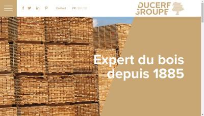 Site internet de Holding Ducerf