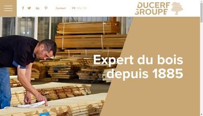 Site internet de Ducerf Scierie