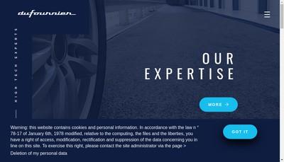 Site internet de Dufournier Technologies