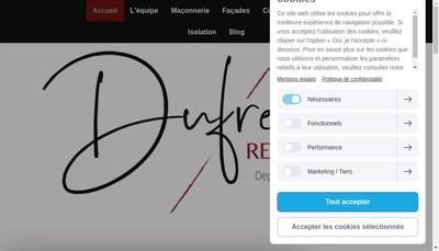Site internet de Dufrene Renovation