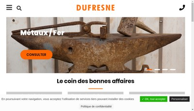 Site internet de SARL Etablissements Dufresne