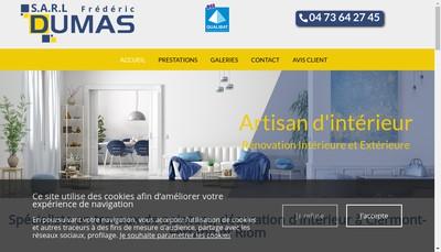 Site internet de Frederic Dumas