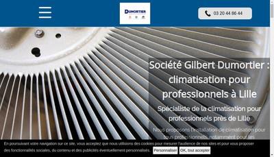 Site internet de Etablissements Gilbert Dumortier