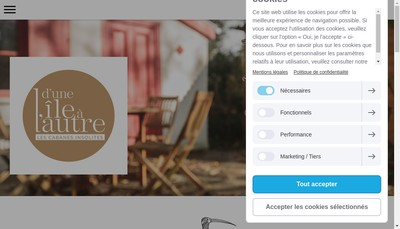 Site internet de D'une Ile a l'Autre