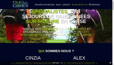 Site internet de Duo des Cimes
