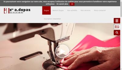 Site internet de A Dupas et Compagnie