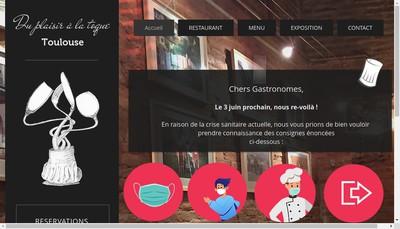 Site internet de Du Plaisir a la Toque