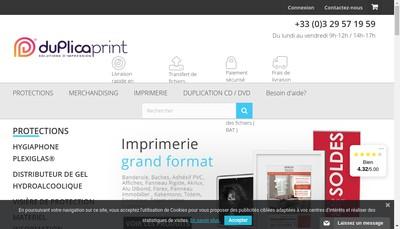 Site internet de Duplica Print