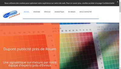 Site internet de Dupont Publicite