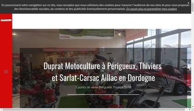 Site internet de Duprat Motoculture