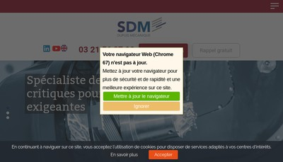 Site internet de Societe Dupuis Mecanique