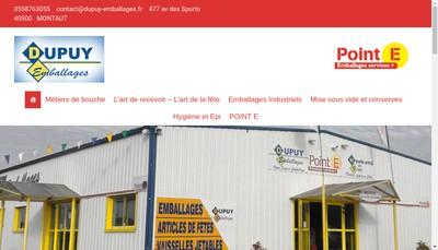 Site internet de Adour Emballages