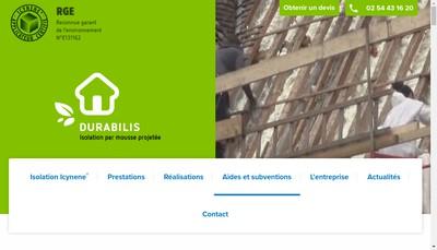 Site internet de Durabilis-Isolation
