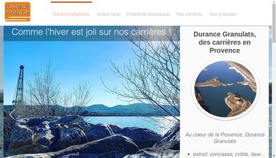 Site internet de Durance Granulats
