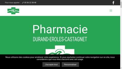 Site internet de Pharmacie Durand Eroles Castagnet