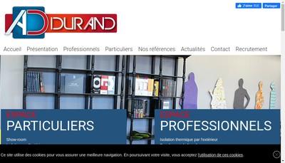 Site internet de SAS Durand