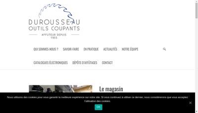 Site internet de Durousseau-Outils Coupants