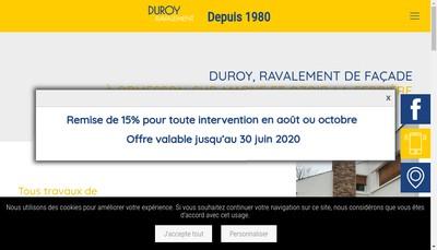 Site internet de Duroy Ravalement