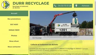 Site internet de SARL Durr Recyclage