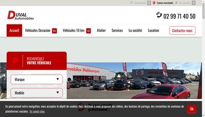 Site internet de Duval Automobiles