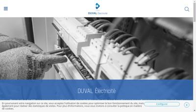 Site internet de Duval Electricite