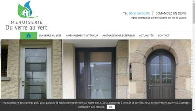 Site internet de Du Verre au Vert