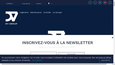 Site internet de Dv Electronique