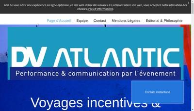 Site internet de DV Atlantic
