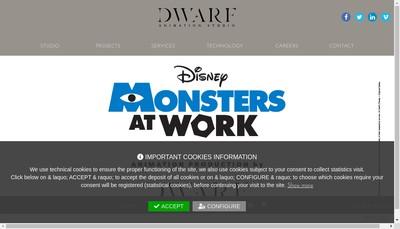 Site internet de Dwarf Animation Studio