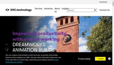 Site internet de Dxc Technology Financial Services Holding