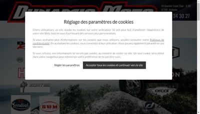 Site internet de Dynamic Moto