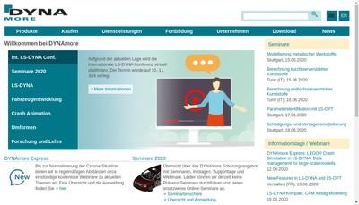 Site internet de Dynamore France