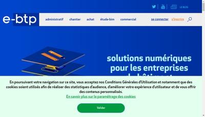 Site internet de E-Btp