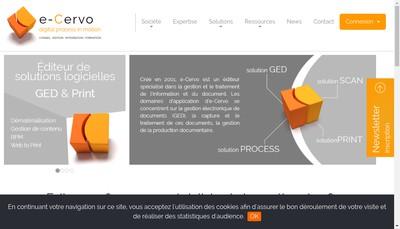 Site internet de E Cervo SARL