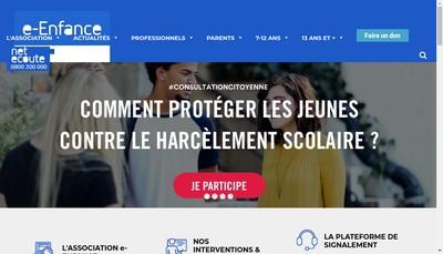 Site internet de E-Enfance