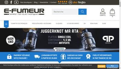 Site internet de E-Fumeur