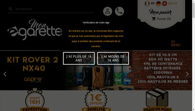 Site internet de E-Garette