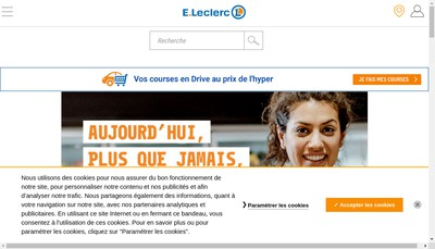 Site internet de Centre Leclerc