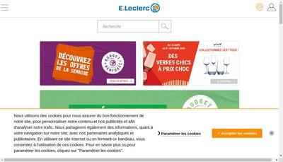 Site internet de Centre E Leclerc