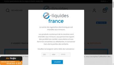 Site internet de E-Liquides France