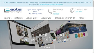 Site internet de E-Obs Technologies