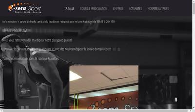 Site internet de E-Sens Sport
