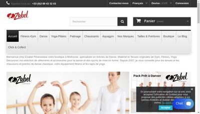 Site internet de Ezabel Fitnesswear