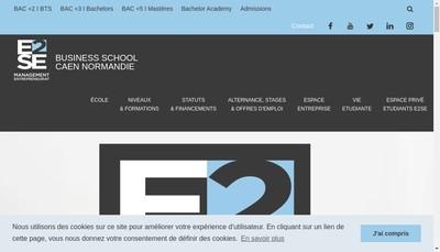 Site internet de Ecole Superieure des Services au Entreprises
