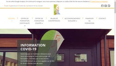 Site internet de Ecole Superieure du Sanitaire et du Social