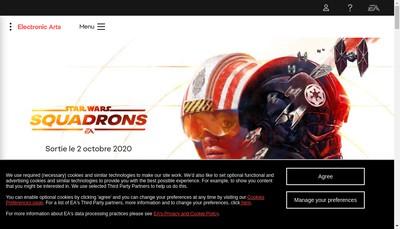 Site internet de Electronic Arts Publishing