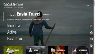 Site internet de Easia Travel Consulting